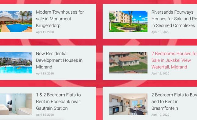Property website that is emerging in South Africa: Joburg Homes